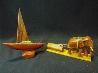 Wood Crafts   Sailboat  Elephant  2