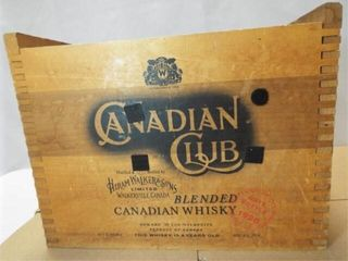Canadian Club Whisky Wood Box