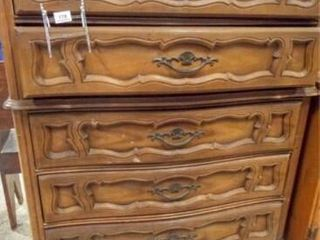 Dresser  5 Drawer  Pecan