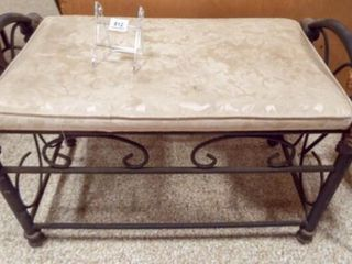 Metal Bench  Upholstered Top