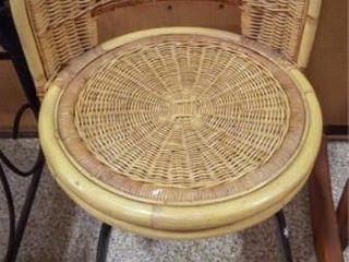 Wicker Vanity Seat  swivels