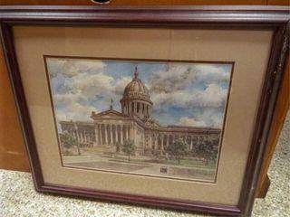 Oklahoma Capitol  Greg Burns  Framed Art