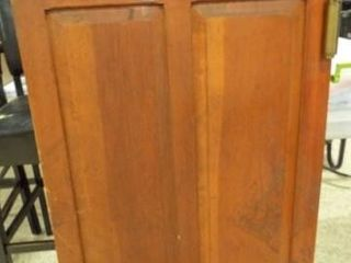 Wood Door on Hinges