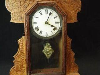 Wood Mantle Wall Clock