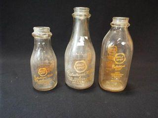 Gold Spot Milk Bottles  3