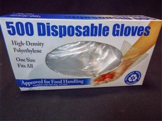 Disposable Gloves  One Size   1 box