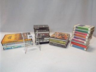 Cassette Tapes  DVDs  CDs  25