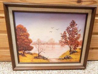 Original Painted Canvas  Framed  M  Voth