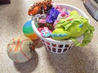 Plush Animals  Balls   1 basket