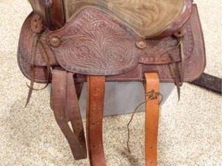 Horse Saddle  Tooled leather  17