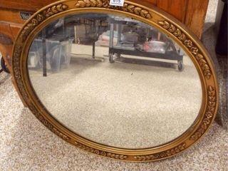 Oval Framed Mirror  29  x 25