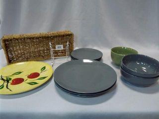 Dishes  Basket  Blue Ridge Plate  11