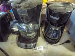 Coffee Makers   12 c  5c