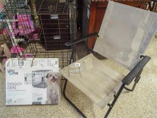 Dog Crates  2  Folding Yard Chair