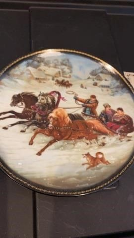 RUSSIAN PlATE  FROM BRADFORD EXCHANGE