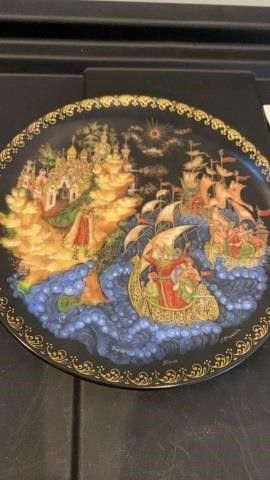 RUSSIAN PlATE BY BRADFORD EXCHANGE