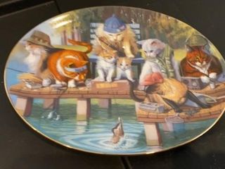 PUSS N BOOTS BY BRYAN MOON   FRANKlIN MINT PlATE