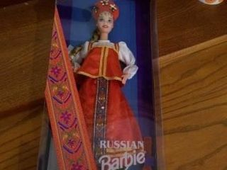 1996 RUSSIAN BARBIE DOllS OF THE WORlD COllECTION