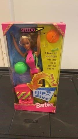 BARBIE FlIP N DIVE SPEEDO BARBIE 1997