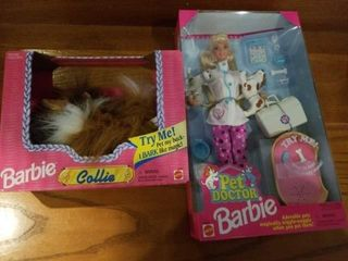 1995 BARBIE DOG COllIE AND 1996 PET DOCTOR