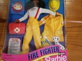 1994 FIREFIGHTER BARBIE  THE CAREER COllECTION