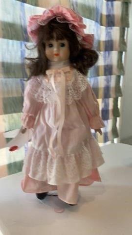 PORCElAIN DOll DRESSED IN PINK