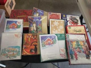 12 BOXES OF ASSORTED CHRISTMAS CARDS