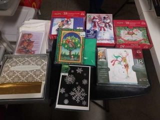 7 BOXES AND SOME SINGlE FUN CHRISTMAS CARDS