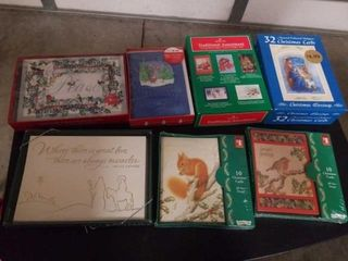 7 BOXES OF MISCEllANOUS CHRISTMAS CARDS