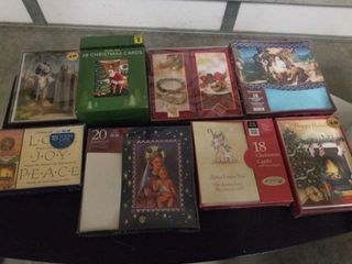 8 BOXES OF CHRISTMAS CARDS