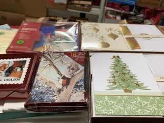 5 BOXES OF CHRISTMAS CARDS