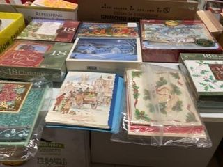 9 BOXES OF CHRISTMAS CARDS