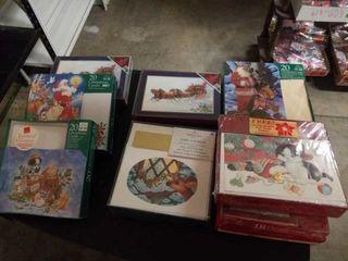 8 BOXES MISCEllANOUS CHRISTMAS CARDS