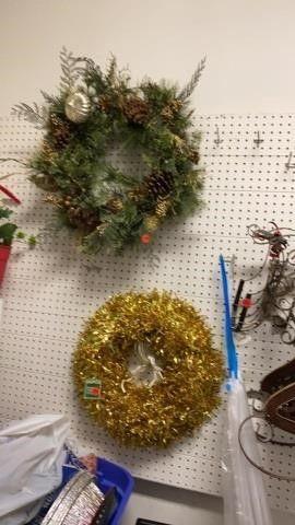 2 CHRISTMAS WREATHES