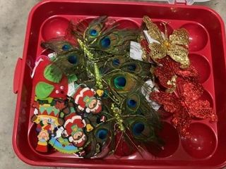 TOTE OF FANCY ORNAMENTS