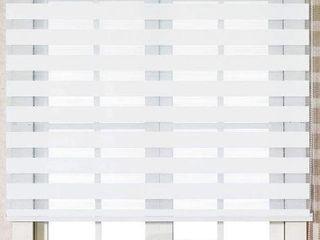 47 X 47 INCHES  FOIRESOFT ZEBRA ROllER BlINDS