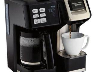 HAMIlTON EBACH FlEX BREW 2 WAY COFFEE MAKER