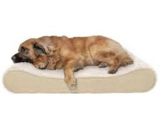 FURHAVEN PET DOG UlTRA PlUSH lUXE lOUNGER PET BED