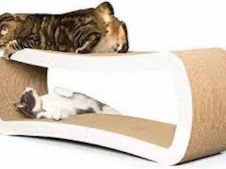 PETFUSION JUMBO CAT SCRATCHER WHITE