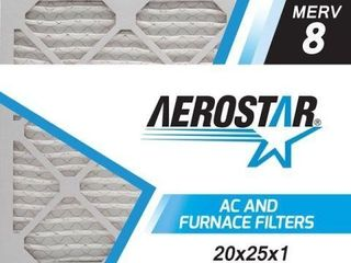 AEROSTAR 20X25X1 AIR FIlTER MERV8 12PCS