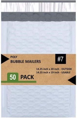 50 PCS POlY BUBBlE MAIlERS 14 25X 20 INCHES