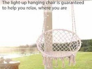 VIVO HOME HANGING CHAIR WITH lED lIGHT
