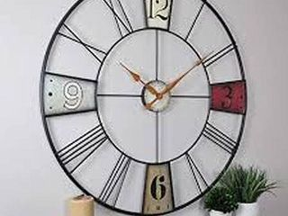 FIRST AND CO VIBRANT PlAQUES WAll ClOCK