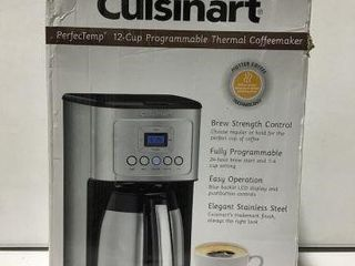 CUISINART 12 CUPS PROGRAMMABlE THERMAl COFFEE