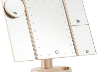 MAGICFlY THREE PANEl lED lIGHTED MAKEUP MIRROR