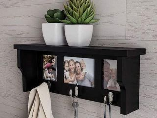 lAVISH HOME WAll SHElF AND PICTURE COllAGE