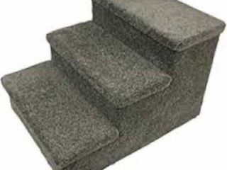 PENN PlAX 3  STEP CARPETED PET STAIRS  HOlDS UP