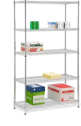 HONEY CAN DO 5 TIER SHElVING UNIT APPROX 42IN W