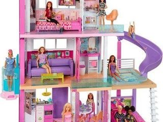 BARBIE DREAMHOUSE DOllHOUSE WITH POOl SlIDE AND