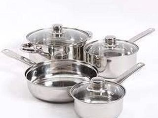 GIBSON EVERYDAY 7 PIECE STAINlESS STEEl COOKWARE